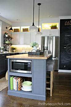 kitchen island microwave a diy kitchen renovation update nine months later from