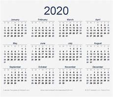 Vertex42 Calendar 2020 2020 Calendar Png Download Image Free Printable 2020