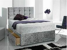 quality crush velvet divan bed orthopeadic mattress