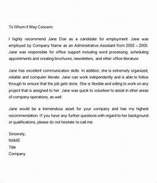Information To Give Someone Writing A Recommendation Letter Employment Recommendation Letter For Previous Employee