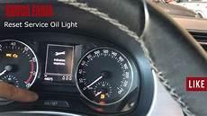 Skoda Fabia Oil Warning Light Skoda Fabia Reset Service Oil Light Youtube