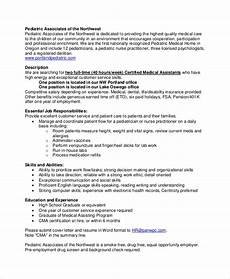 Medical Assistant Job Description For Resume Medical Assistant Position Description Free Resume Templates