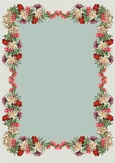 Stationery Border Design Free Printable Vintage Flower Stationery Ausdruckbares