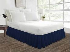 navy blue ruffle bed skirts 12 and 18 inch drop