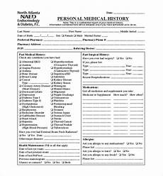 Comprehensive Health History Form Free 23 Sample Medical History Forms In Pdf Word Excel
