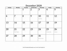 2020 Calendar Free Download Printable December 2020 Calendar