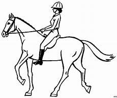 Malvorlagen Pferd Mit Reiterin Reiterin Mit Helm Auf Pferd Ausmalbild Malvorlage Sport