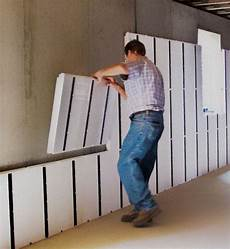 Insulating Concrete Block Walls Insofast Makes Finishing A Concrete Wall A Diy Project