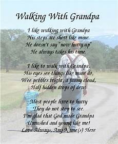 Funeral Speech For Grandpa Walking With Grandpa Personalized Art Poem Memory Birthday