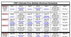 Firefighter Schedule Calendar Firefighter Quot Fit For Duty Quot Workout Schedule My