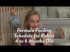 Feeding Schedule For Babies Formula Feeding Schedule For Babies 4 To 6 Months Old