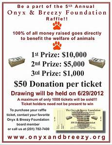 Raffle Ticket Fundraiser Ideas Cash Raffle Ticket Sales Provide The Prize Money So All