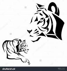 Simple Tiger Outline Tiger Outline Tiger Vector Illustration