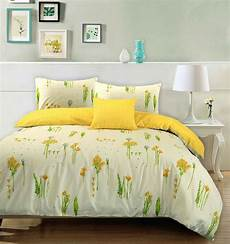 summer 100 cotton floral yellow flower duvet