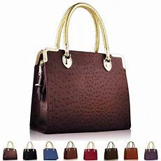 Designer Tote Ostrich Faux Leather Ladies Designer Womens Shoulder Bag