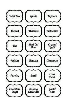From The Kitchen Of Labels 30 Pretty Kitchen Or Pantry Labels Kitty Baby Love