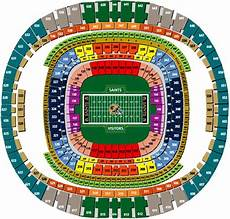 Saints Virtual Seating Chart 1 New Orleans Saints Psl Season Tickets Rights Sec 122 Row