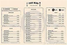 Menu Layout Restaurant Menu Design Template Layout With Logo Stock