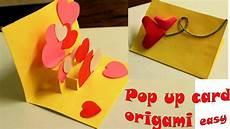 pop up card tutorial membuat origami i you pop up card tutorial