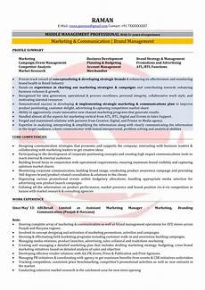 Sample Resume For Marketing Executive Position Marketing Manager Sample Resumes Download Resume Format