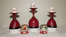 Christmas Wine Glass Tea Light Holders Diy Wine Glass Candle Holders Christmas Centerpiece Youtube