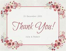 thank you for card template copy of floral thank you card template postermywall