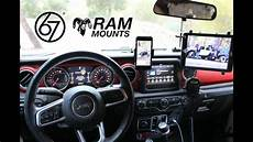 67 Design Jeep Adding Ram X Grip To 67 Designs Rail System For An Ipad In