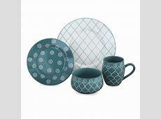 Moroccan 16 Piece Dinnerware Set in Turquoise MOROCT16