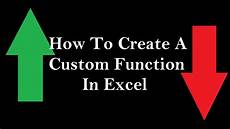 Create A Function In Excel How To Create A Custom Function To Do Anything You Want In