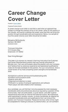 Career Cover Letters Sample Cover Letter Change Of Career Sample Cover Letter
