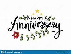 Happy Anniversary Design Happy Anniversary Greeting Card Stock Illustration