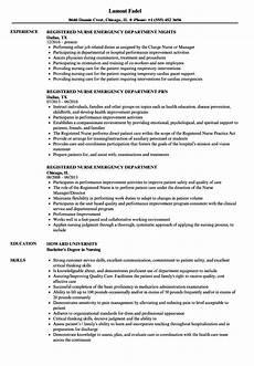 Emergency Room Rn Resumes Emergency Room Registered Nurse Resume Examples Best