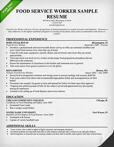 Resume For Food Industry Food Service Waitress Amp Waiter Resume Samples Amp Tips