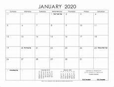 Vertex42 Calendar 2020 2020 Calendar Templates And Images