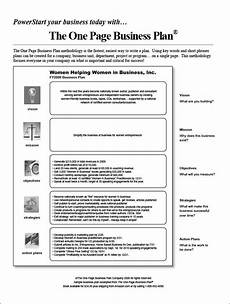One Page Proposal Template Free One Page Business Plan Template 14 Free Word Pdf