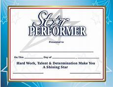 Top Performer Certificate Template Recognition Certificates Star Performer Certificates