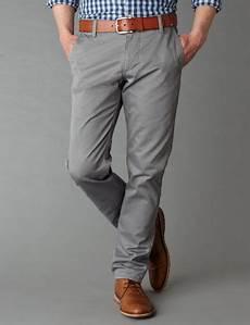 Light Grey Pants Brown Shoes Grey Pants Khaki Fashion Slim Fit Pants Men Grey Pants Men