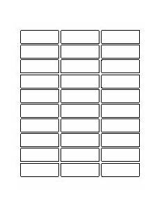 Avery Label Templates 5260 Template For Easy Peel Address Labels 1 Quot X 2 5 8 Quot 5260