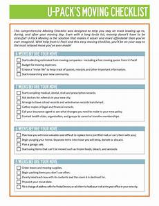 Packing To Move Checklist 45 Great Moving Checklists Checklist For Moving In Out
