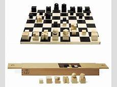 Naef Bauhaus Complete Chess Set with Chessmen and Chessboard: NOVA68.com