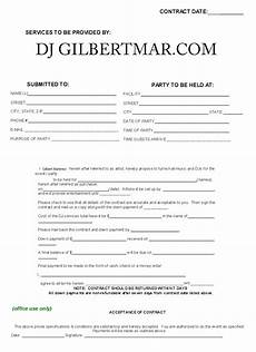 Dj Contracts Dj Contract Free Printable Documents