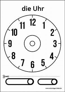 Malvorlage Uhr Ohne Zeiger Uhr Vorlage Zum Ausdrucken Uhrzeit Lernen Uhr Lernen