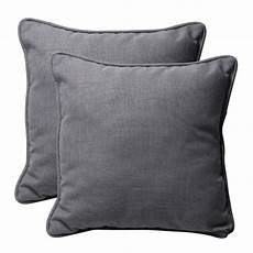 Light Grey Throw Pillows Shop Decorative Grey Textured Solid Square Outdoor Toss