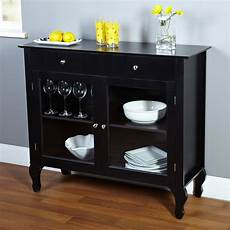 black dining room buffet sideboard server cabinet with