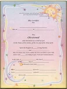 Christening Certificate Keepsake Christening 8 5 X 11 Inch Certificate Heaven