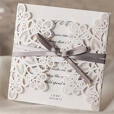 White On White Wedding Invitations 25pcs White Wedding Invitations Card Laser Cut Wedding