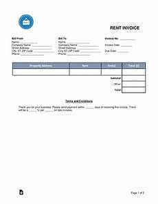 Tenant Invoice Free Rental Monthly Rent Invoice Template Word Pdf