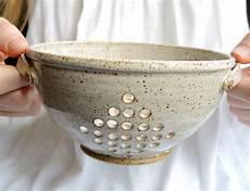 Pottery Bowl Designs Ceramic Colander Pottery Berry Bowl By Thimbleberrypottery