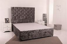 giltedge beds 6ft superking divan base crushed velvet fabric