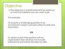 Objectives For Applying A Job Job Applications